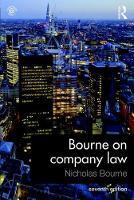Bourne, Nicholas - Bourne on Company Law - 9781138911895 - V9781138911895