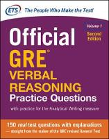 Educational Testing Service - Official GRE Verbal Reasoning Practice Questions, Second Edition - 9781259863486 - V9781259863486