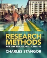 Stangor, Charles - Research Methods for the Behavioral Sciences - 9781285077024 - V9781285077024