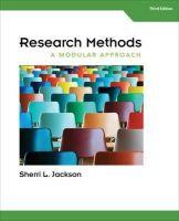 Jackson, Sherri L. - Research Methods - 9781285750491 - V9781285750491