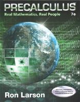 Larson, Ron - Precalculus: Real Mathematics, Real People - 9781305071704 - V9781305071704