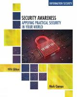 Ciampa, Mark - Security Awareness: Applying Practical Security in Your World - 9781305500372 - V9781305500372