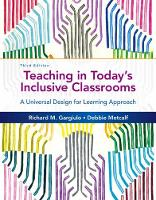 Gargiulo, Richard M., Metcalf, Debbie - Teaching in Today's Inclusive Classrooms: A Universal Design for Learning Approach - 9781305500990 - V9781305500990