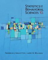 Gravetter, Frederick J, Wallnau, Larry B. - Statistics for The Behavioral Sciences (MindTap for Psychology) - 9781305504912 - V9781305504912