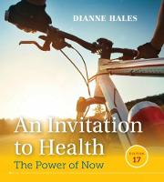 Hales, Dianne - An Invitation to Health - 9781305638006 - V9781305638006