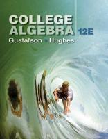 Gustafson, R. David, Hughes, Jeff - College Algebra - 9781305652231 - V9781305652231