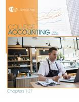 Heintz, James A., Parry, Robert W. - College Accounting, Chapters 1-27 (New in Accounting from Heintz and Parry) - 9781305666160 - V9781305666160