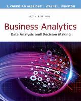 Albright, S. Christian, Winston, Wayne L. - Business Analytics: Data Analysis & Decision Making - Standalone book - 9781305947542 - V9781305947542