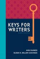 Raimes, Ann, Miller-Cochran, Susan K. - Keys for Writers (Keys for Writers Series) - 9781305956759 - V9781305956759