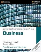 Stimpson, Peter, Joyce, Peter - Cambridge International AS and A Level Business Revision Guide - 9781316611708 - V9781316611708