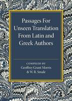 - Passages for Unseen Translation from Latin and Greek Authors - 9781316612606 - V9781316612606