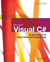 Farrell, Joyce - Microsoft Visual C#: An Introduction to Object-Oriented Programming - 9781337102100 - V9781337102100