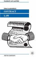 McKendrick, Ewan - Contract Law - 9781403912251 - KHS0050267