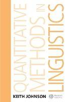 Johnson, Keith - Quantitative Methods In Linguistics - 9781405144254 - V9781405144254