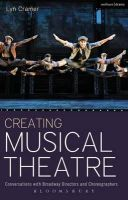 Cramer, Lyn - Creating Musical Theatre: Conversations with Broadway Directors and Choreographers - 9781408185322 - V9781408185322