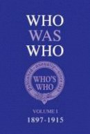 Who, Who's - Who Was Who (1897-1915) - 9781408193358 - V9781408193358