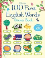Brooks, Felicity - 100 First English Words Sticker Book - 9781409551539 - V9781409551539