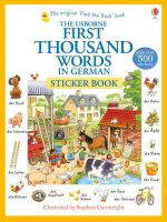 Heather Amery - First Thousand Words in German Sticker Book - 9781409580249 - V9781409580249