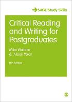 Wallace, Mike, Wray, Alison - Critical Reading and Writing for Postgraduates (SAGE Study Skills Series) - 9781412961820 - V9781412961820