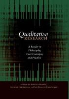 - Qualitative Research: A Reader in Philosophy, Core Concepts, and Practice (Counterpoints 354) - 9781433104725 - V9781433104725