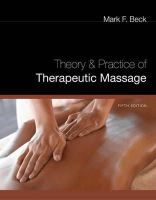Mark F. Beck - Theory and Practice of Therapeutic Massage - 9781435485242 - V9781435485242