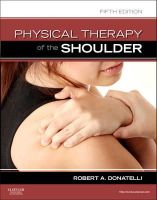 Donatelli PhD  PT  OCS, Robert A. - Physical Therapy of the Shoulder, 5e (Clinics in Physical Therapy) - 9781437707403 - V9781437707403