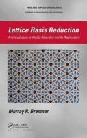 Bremner, Murray R. - Lattice Basis Reduction - 9781439807026 - V9781439807026