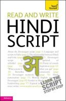 Snell, Rupert - Read and Write Hindi Script - 9781444103915 - V9781444103915