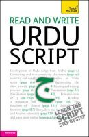 Delacy, Richard - Teach Yourself Read and Write Urdu Script - 9781444103939 - V9781444103939