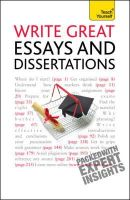Hutchison, Hazel - Write Great Essays and Dissertations (Teach Yourself) - 9781444105087 - V9781444105087