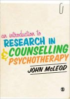 Mcleod, John - An Introduction to Research in Counselling and Psychotherapy - 9781446201411 - V9781446201411