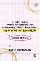 Silverman, David - Very Short, Fairly Interesting and Reasonably Cheap Book About Qualitative Research - 9781446252185 - V9781446252185