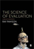 Pawson, Ray - The Science of Evaluation - 9781446252437 - V9781446252437