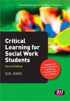 Jones, Sue - Critical Learning for Social Work Students - 9781446268162 - V9781446268162