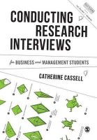 Cassell, Catherine - Conducting Research Interviews for Business and Management Students (Mastering Business Research Methods) - 9781446273555 - V9781446273555