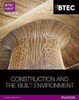 Topliss, Simon - BTEC First NG Construction and the Built Environment Student Book - 9781446906460 - V9781446906460