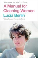 Berlin, Lucia - A Manual for Cleaning Women - 9781447294894 - 9781447294894