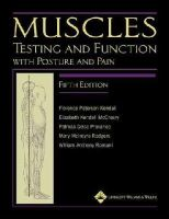Kendall, Florence Peterson; McCreary, Elizabeth Kendall; Provance, Patricia Geise; Rodgers, Mary; Romani, William - Muscles: Testing and Function, with Posture and Pain - 9781451104318 - V9781451104318