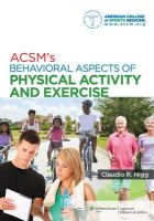 American College of Sports Medicine - ACSMS BEHAVIORAL ASPECTS OF EXERCISE - 9781451132113 - V9781451132113