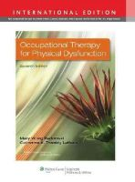 Mary Vining Radomski - OCCUP THERAPY PHYS DYSFUN 7E INT ED - 9781451189216 - V9781451189216
