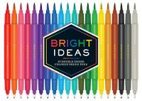 Chronicle Books - Bright Ideas: 20 Double-Ended Colored Brush Pens - 9781452162867 - V9781452162867