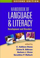 - Handbook of Language and Literacy, Second Edition: Development and Disorders - 9781462527489 - V9781462527489