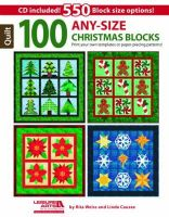 Rita Weiss - 100 Any Size Christmas Quilt Blks + CD - 9781464715921 - V9781464715921