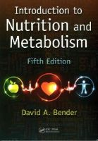 Bender, David A. - Introduction to Nutrition and Metabolism, Fifth Edition - 9781466572249 - V9781466572249