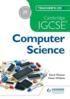 - Cambridge IGCSE Computer Science Teacher's CD - 9781471809316 - V9781471809316