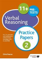 Pearse, Chris - 11+ Verbal Reasoning Practice Papers 2 - 9781471869068 - V9781471869068
