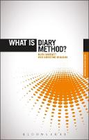 Bartlett, Ruth, Milligan, Christine - What is Diary Method? (The 'What is?' Research Methods Series) - 9781472572530 - V9781472572530