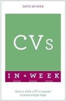 McWhir, David - CVs In A Week - 9781473609433 - V9781473609433