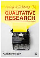 Holliday, Adrian - Doing & Writing Qualitative Research - 9781473953260 - V9781473953260
