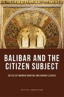Warren Montag, Hanan Elsayed - Balibar and the Citizen Subject (Critical Connections) - 9781474404211 - V9781474404211
